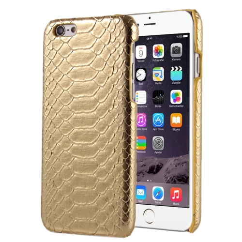 Buy For iPhone 6 Plus & 6s Plus Snakeskin Texture Hard Back Cover Protective Back Case, Gold for $1.41 in SUNSKY store