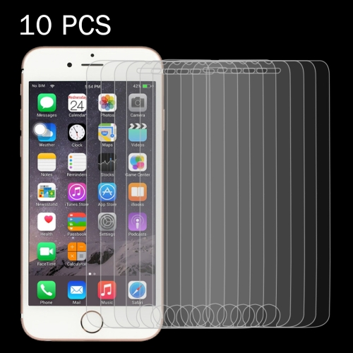 10 PCS 0.26mm 9H Surface Hardness 2.5D Explosion-proof Tempered Glass Screen Film for iPhone 6 Plus & 6s Plus