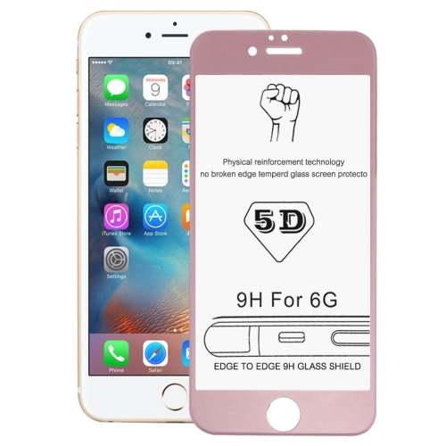 Buy 0.26mm 9H Surface Hardness 3D Explosion-proof Tempered Glass Screen Film for iPhone 6 & 6s (Rose Gold) for $2.78 in SUNSKY store