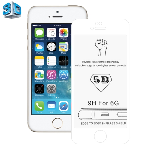 Buy 0.26mm 9H Surface Hardness 3D Explosion-proof Tempered Glass Screen Film for iPhone 6 & 6s, White for $2.89 in SUNSKY store