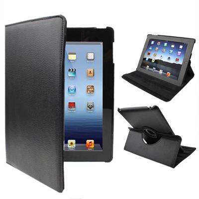 360 Degree Rotatable PU Leather Case with Sleep / Wake-up Function & Holder for New iPad (iPad 3) / iPad 2 / iPad 4, Black(Black) фото