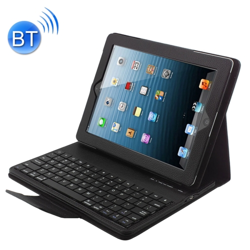 Bluetooth 3.0 Keyboard with Detachable Leather Case for iPad 4 / 3 / 2(Black)
