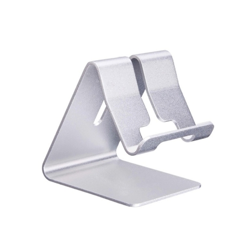 Aluminum Stand Desktop Holder, For iPad, iPhone, Galaxy, Huawei, Xiaomi, HTC, Sony, and other Mobile Phones or Tablets(Silver)