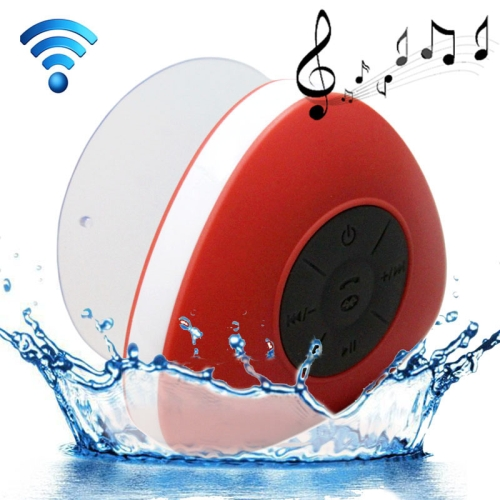 Triangle Style Mini Waterproof Bluetooth Speaker for iPad / iPhone / Other Bluetooth Mobile Phone, Support Handfree Function, Waterproof Level: IPX4, Red
