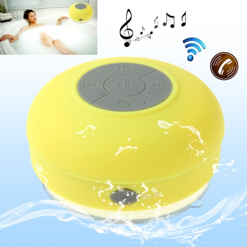 Buy Mini Waterproof Bluetooth ISSC3.0 Speaker for iPad / iPhone / Other Bluetooth Mobile Phone, Support Handfree Function, Waterproof Level: IPX4, BTS-06, Yellow for $9.56 in SUNSKY store