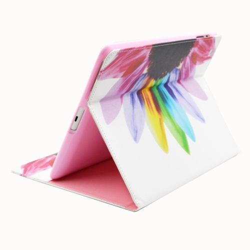 Buy Colorful Sunflower Pattern Horizontal Flip Leather Case with Holder & Card Slots & Wallet for iPad 4 / 3 / 2 for $5.88 in SUNSKY store