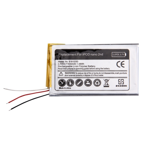 Buy 400mAh High Quality Replacement Battery for iPod nano 2nd for $4.46 in SUNSKY store
