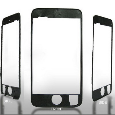 LCD & touch screen frame for iPod touch 2nd, Black