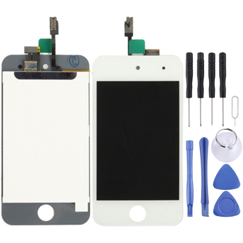 LCD Screen + Digitizer Touch Panel for iPod Touch 4(White)