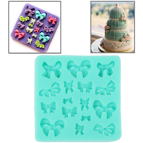 Soft Silicone Bowknot Style DIY Cupcake / Cake / Bread / Jelly / Chocolate / Pizza / Sugar Paste Mold, Green
