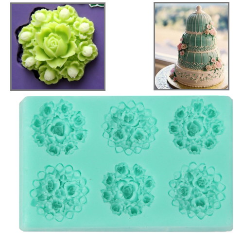 Buy Soft Silicone Flowers Style DIY Cupcake / Cake / Bread / Jelly / Chocolate / Pizza / Sugar Paste Mold for $2.78 in SUNSKY store