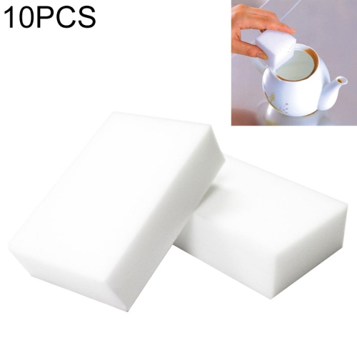 10 PCS Magic Sponge Eraser / Multi-functional Sponge for Cleaning / Washing(White)