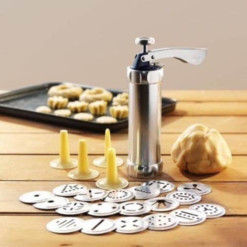 Biscotti Biscuit Maker with 20 Moulds(Grey) фото
