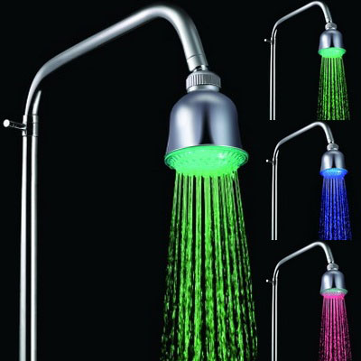Buy Mini Temperature Sensor 3-Color (Blue / Pink / Red) LED Shower Head for $7.58 in SUNSKY store