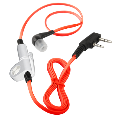 Buy Noodly Style Earphone for Walkie Talkies, 3.5mm + 2.5mm Plug, Red for $3.07 in SUNSKY store