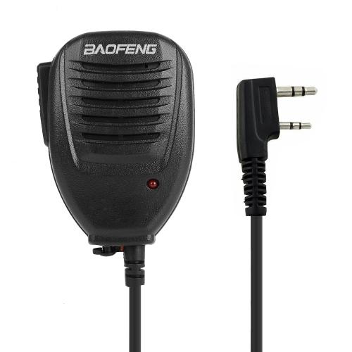 Buy Clip-on Speaker Microphone for Walkie Talkies, 3.5mm + 2.5mm Earphone + Mic Plug, Black for $2.16 in SUNSKY store