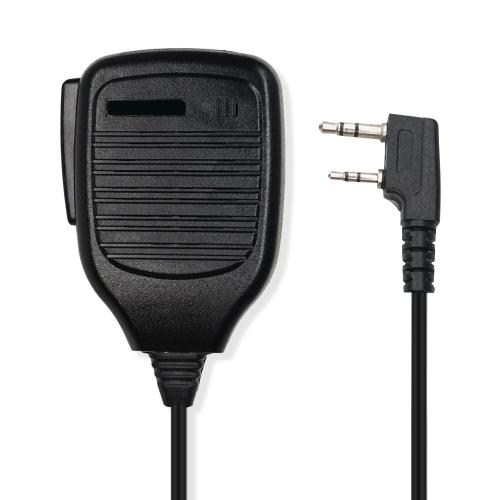 Buy Clip-on Speaker Microphone for Walkie Talkies, 3.5mm + 2.5mm Earphone + Mic Plug, Black for $2.55 in SUNSKY store