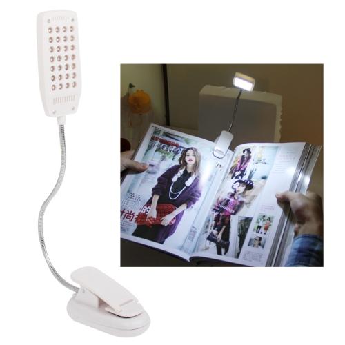 Buy White 28 LED Computer Light Snake Tube Clip Book Light, YHX-180, White for $2.86 in SUNSKY store