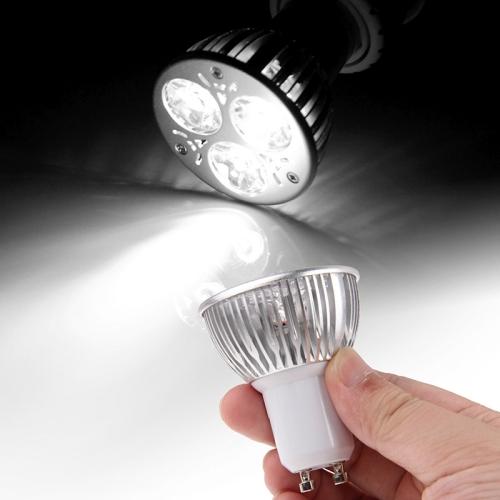 GU10 3W 270LM Spotlight Lamp Bulb, 3 LED, White Light, 6000K, AC 85-265V