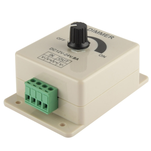 Single Color Dimmer Switch LED Dimmer Controller for Strip Light DC12-24V, Output Current: 8A