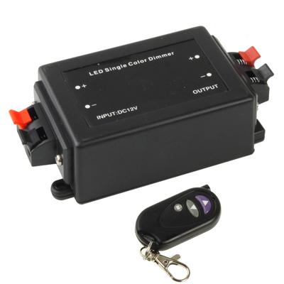RF Wireless Controller / LED Single Color Dimmer, DC 12V(Black)