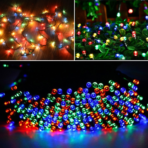 Buy 220V EU Plug Waterproof 100 LED RGB String Lights with Controller, Flashing / Fading / Chasing Effect, Length: 10m for $3.63 in SUNSKY store