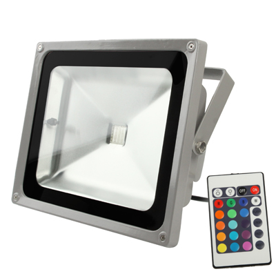 Buy 60W High Power RGB LED Floodlight Lamp with Remote Control, AC 85-265V, Luminous Flux: 4200-5000lm for $23.12 in SUNSKY store