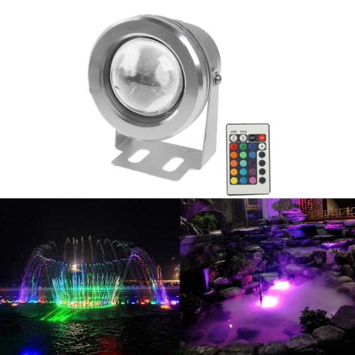 Buy 10W RGB LED Underwater Light with Remote Control, DC 12V, Luminous Flux: 800-900lm, Silver for $6.10 in SUNSKY store