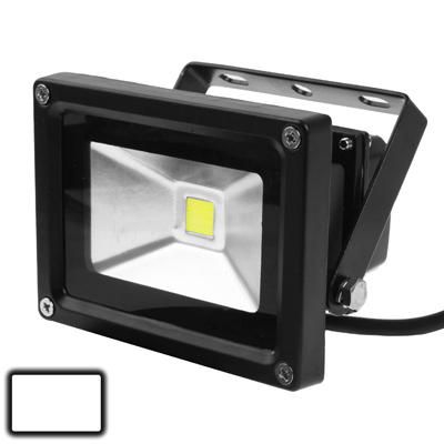 Buy 10W Waterproof White LED Floodlight Lamp, AC 85-265V, Luminous Flux: 800-900lm, Black for $4.79 in SUNSKY store