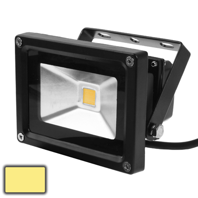 Buy 10W Waterproof Warm White LED Floodlight Lamp, AC 85-265V, Luminous Flux: 800-900lm, Black for $4.79 in SUNSKY store