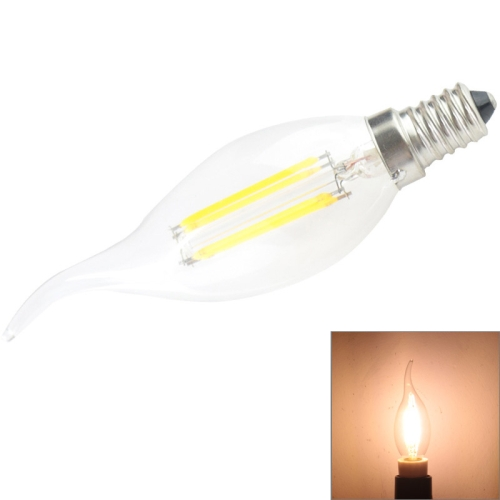 Buy E14 4W 400LM 2600-3300K Warm White 4 COB LED Candle Light Bulb, AC 85-265V for $2.26 in SUNSKY store