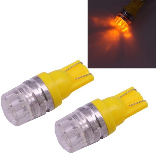 SUNSKY - 2 PCS T10 1.5W 60LM 1 LED Yellow COB LED Brake ...