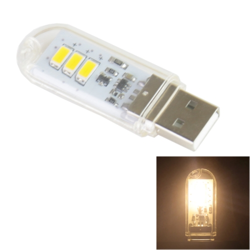 Buy 1.5W Flash Disk Style USB Warm White 3 LED Light with Touch Switch for $1.38 in SUNSKY store