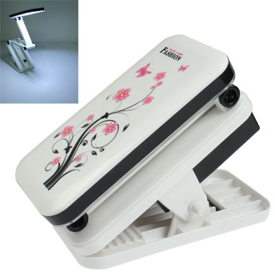 LED Rechargeable Clip Type Portable Folding Adjustable Light Electric Lamp, White