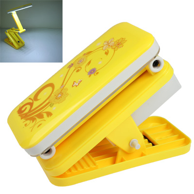Buy LED Rechargeable Clip Type Portable Folding Adjustable Light Electric Lamp, Yellow for $6.54 in SUNSKY store