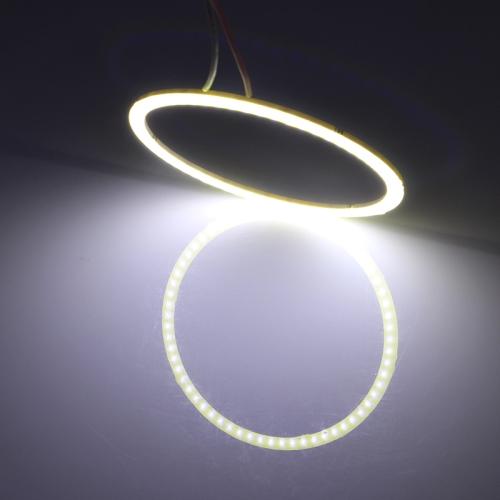 100mm 5W 180LM Angel Eyes Circles Car Headlight White Light COB LED Lights for Vehicles, DC 12-24V