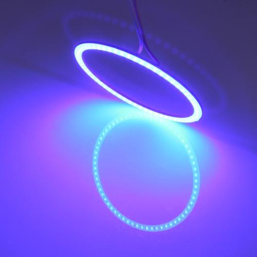 Buy 60mm 5W 180LM Angel Eyes Circles Car Headlight White Light COB LED Lights for Vehicles, DC 12-24V for $2.44 in SUNSKY store