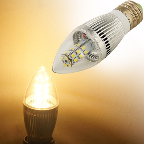 Buy YouOKLight E27 5.5W 450LM High Bright 6500K Warm White Light 28 LED SMD 2835 Candle Light Bulb, AC 110-250V for $5.69 in SUNSKY store