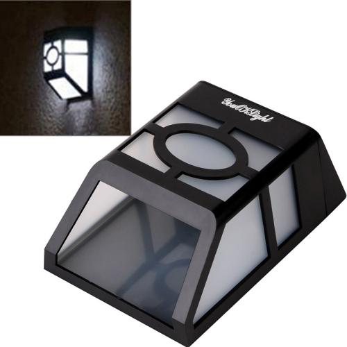 Buy YouOKLight Outdoor High Power 0.2W 2 LED White Light Solar Lantern Light Fence Lamp Solar Wall Mounted Light for $5.56 in SUNSKY store