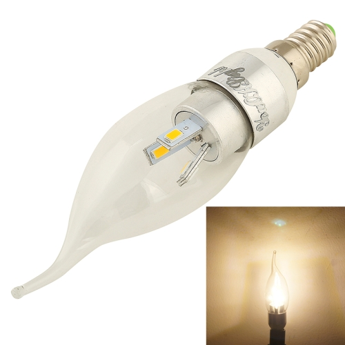 Buy YouOKLight E14 3W 240LM 3000K Warm White Light 6 LED SMD 5730 Light Candle Bulbs Lamp, AC 85-265V for $2.66 in SUNSKY store