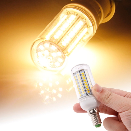 Buy E14 2835 SMD 8.0W AC 220-240V 420LM LED Corn Light Lamp with Transparent Cover (Warm White Light 102 LEDs) for $2.43 in SUNSKY store