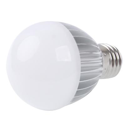 E27 4W White LED Ball Steep Light Bulb, AC 85-265V