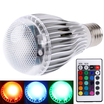 Buy E27 10W RGB LED Ball Steep Light Bulb with Remote Controller, Luminous Flux: 800-900lm for $6.37 in SUNSKY store