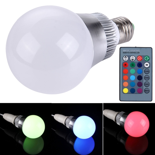 Buy E27 10W RGB LED Ball Steep Light Bulb with Remote Controller, Luminous Flux: 800-900lm for $4.45 in SUNSKY store
