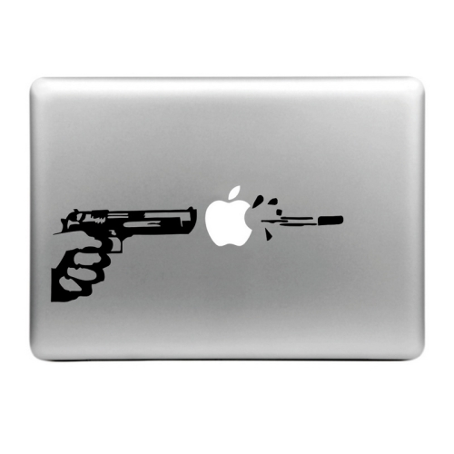 Buy Hat-Prince Shooting the Apple Pattern Removable Decorative Skin Sticker for MacBook Air / Pro / Pro with Retina Display, Size: L for $2.86 in SUNSKY store