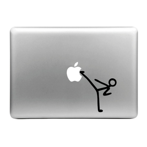 Buy Hat-Prince Kick Apple Pattern Removable Decorative Skin Sticker for MacBook Air / Pro / Pro with Retina Display, Size: M for $2.77 in SUNSKY store
