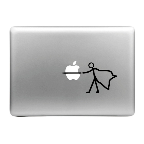 Buy Hat-Prince Stab the Apple Pattern Removable Decorative Skin Sticker for MacBook Air / Pro / Pro with Retina Display, Size: S for $2.66 in SUNSKY store