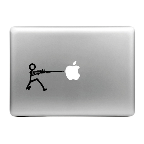Buy Hat-Prince Machine Gun and the Apple Pattern Removable Decorative Skin Sticker for MacBook Air / Pro / Pro with Retina Display, Size: S for $2.66 in SUNSKY store
