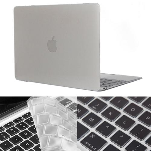 ENKAY Hat-Prince 2 in 1 Crystal Hard Shell Plastic Protective Case with Keyboard Guard for Macbook 12 inch (US Version), Transparent