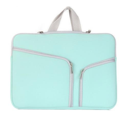 Buy Double Pocket Zip Handbag Laptop Bag for Macbook Pro 15 inch, Green for $4.75 in SUNSKY store